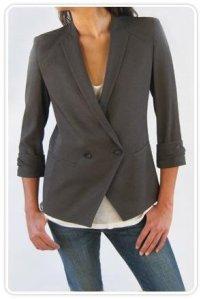 Silica crepe blazer