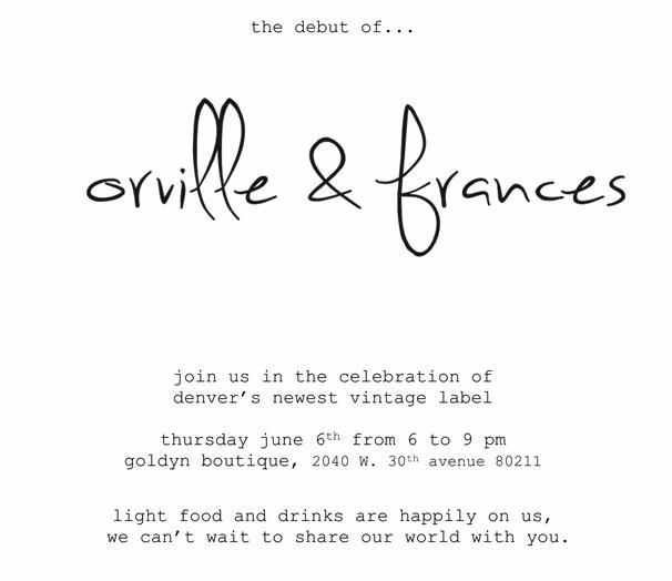 Orville & Frances Vintage Trunk Show at Goldyn