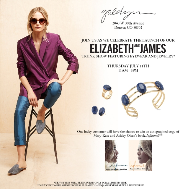Elizabeth and James trunk show invite
