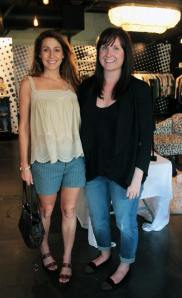 Cat (left) & Goldyn Marketing Director Courtney Parker at a recent store event