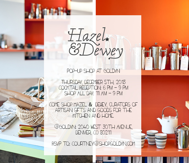 Hazel & Dewey invitation