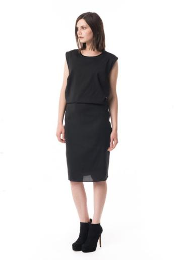 Helmut Lang Serene Viscose Cut Out Dress