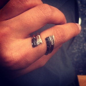 Editorial photograph from Selin's website showing new stackable ring designs