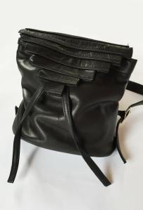 """Novella"" medium backpack, leather, $396"