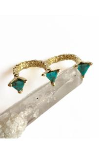Double Mini Prism Ring in Turquoise. Click to shop at Goldyn.